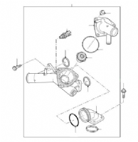 THERMOSTAT, HOUSING & SWITCHES 4.4 DISCOVERY & SPORT